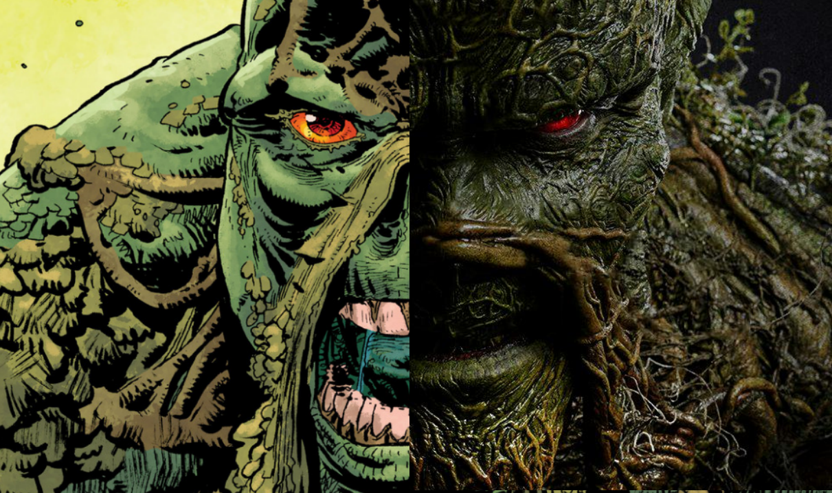 Half half. Swamp Thing in live action and as an illustration. JLD Guest Star suggestion.